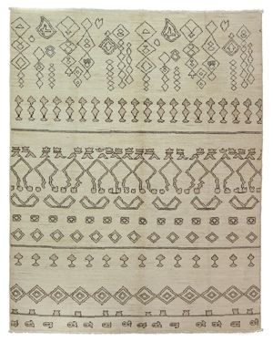Solo Rugs Moroccan Area Rug, 9'10 x 7'8