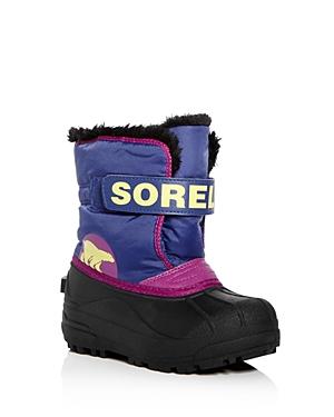 Sorel Girls Snow Commander Waterproof Boots  Toddler Little Kid
