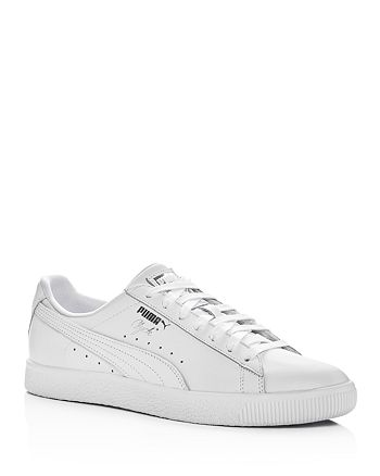 PUMA - Men's Clyde Core Leather Lace Up Sneakers