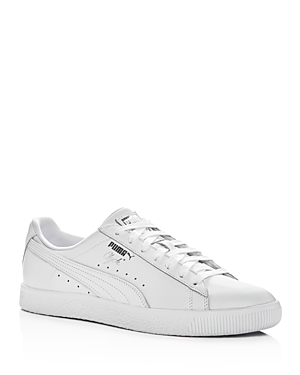 Puma Men's Clyde Core Leather Lace Up Sneakers