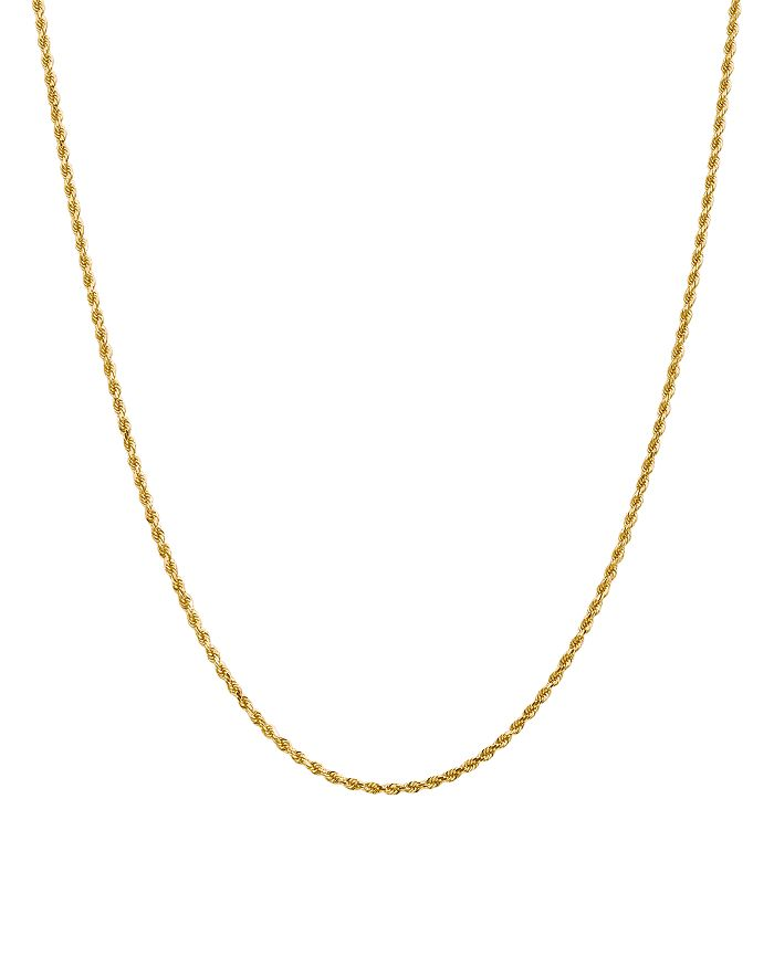 Bloomingdale's - 14K Yellow Gold 2mm Diamond Cut Rope Chain Necklace - 100% Exclusive