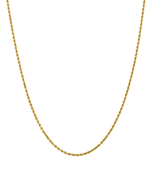 Bloomingdale's 14K YELLOW GOLD 2MM DIAMOND CUT ROPE CHAIN NECKLACE, 22 - 100% EXCLUSIVE