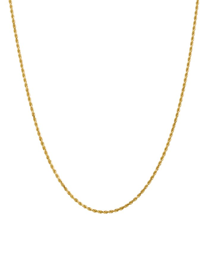 Bloomingdale's 14K Yellow Gold 2mm Diamond Cut Rope Chain Necklace - 100% Exclusive  | Bloomingdale's
