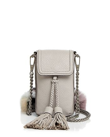 Rebecca Minkoff - Isobel Fur Strap Leather Smartphone Crossbody