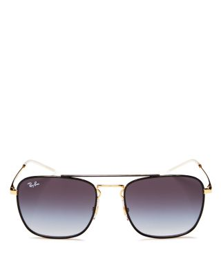 $Ray-Ban Unisex Brow Bar Navigator Square Sunglasses, 55mm - Bloomingdale's