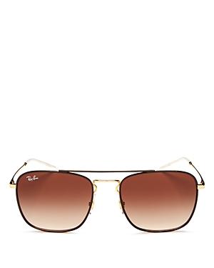Ray-Ban Brow Bar Navigator Square Sunglasses, 55mm