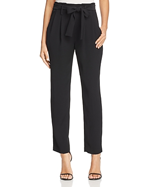 Michael Michael Kors Pleated Sash Belt Ankle Pants