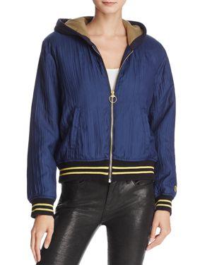 True Religion Zip-Front Bomber Jacket