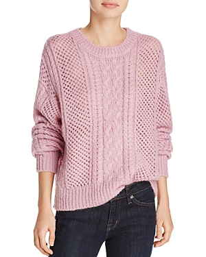 John + Jenn Cheyenna Open-Knit Sweater