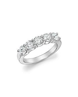 Bloomingdale's - Certified Diamond Band Ring in 18K White Gold, 1.50 ct. t.w. - 100% Exclusive