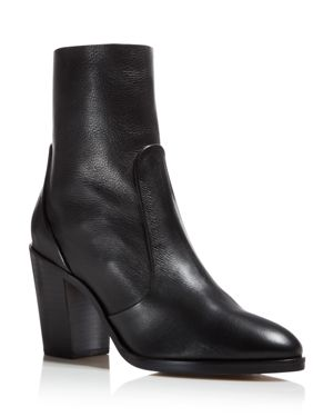 Splendid Women's Roselyn Leather High Block Heel Booties