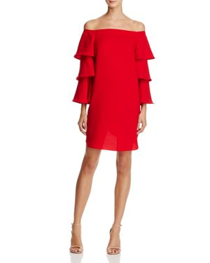 nanette Nanette Lepore Off-the-Shoulder Bell Sleeve Dress - 100% Exclusive
