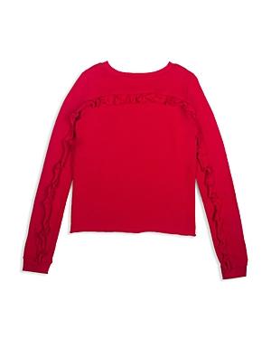 Hudson Girls Ruffled Sweatshirt  Big Kid