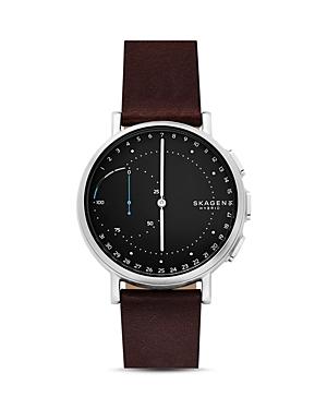 Skagen Signatur Brown Leather Strap Hybrid Smartwatch, 42mm
