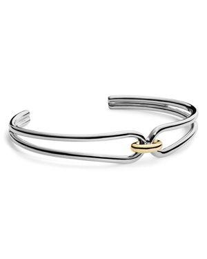Shinola 14K Yellow Gold & Sterling Silver Lug Cuff Bracelet