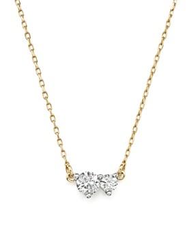 "Adina Reyter - 14K Yellow Gold Amigos Diamond Two Station Choker Necklace, 14"""