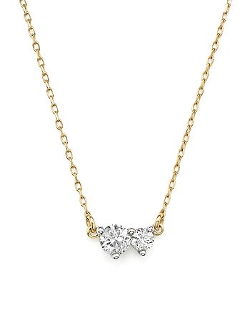 Adina Reyter - 14K Yellow Gold Amigos Diamond Two Station Choker Necklace, 14""