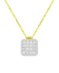 "Frederic Sage 18K White & Yellow Gold Diamond Firenze Diamond Pendant Necklace, 16"" - Bloomingdale's_0"
