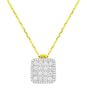 Frederic Sage - 18K White & Yellow Gold Diamond Firenze Diamond Pendant Necklace, 16""