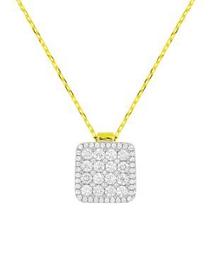Frederic Sage 18K White & Yellow Gold Diamond Firenze Diamond Pendant Necklace, 16