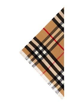 Burberry - Half Mega Check Cashmere Bandana Scarf