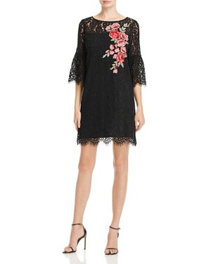 Karen Kane Floral Embroidered Lace Bell Sleeve Dress - 100% Exclusive 2741623