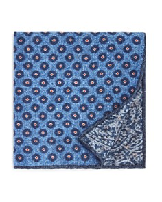 The Men's Store at Bloomingdale's Circle Medallion Wool Pocket Square - 100% Exclusive_0
