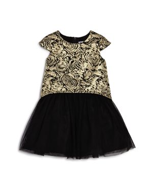 Us Angels Girls' Brocade & Tulle Dress, Little Kid - 100% Exclusive