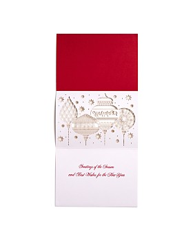 Masterpiece - Masterpiece Ornaments Laser-Cut Holiday Cards, Set of 12