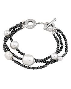 Majorica Simulated Pearl Multi-Strand Toggle Bracelet - Bloomingdale's_0