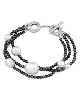 Majorica - Simulated Pearl Multi-Strand Toggle Bracelet