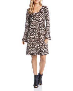 Karen Kane Leopard Print Bell Sleeve Dress 2741613