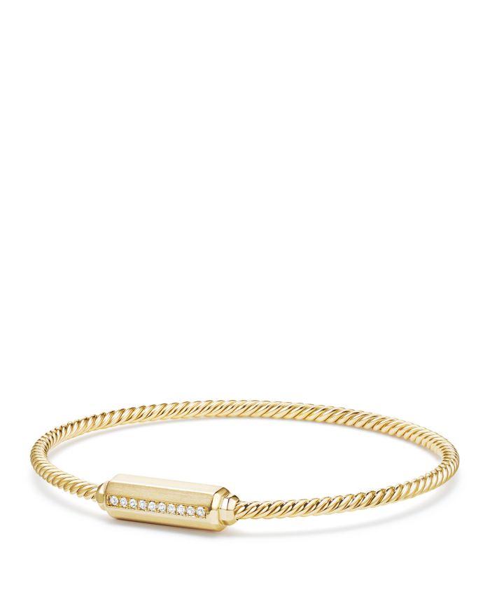 David Yurman Barrels Bracelet with Diamonds in 18K Gold    Bloomingdale's