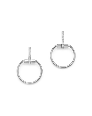 Roberto Coin 18K White Gold Classic Parisienne Diamond Small Round Earrings