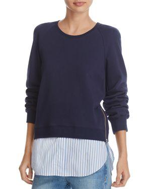 Derek Lam 10 Crosby Crewneck Shirttail Sweatshirt