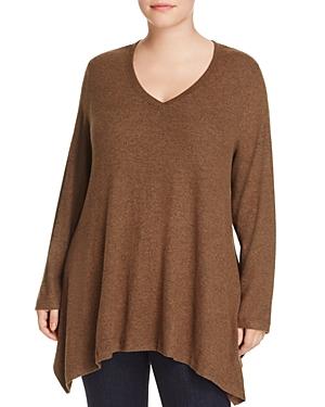 Nally & Millie Plus Handkerchief Hem Tunic Sweater