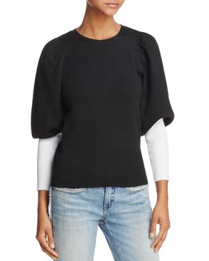 Parker Risa Contrast-Color Sleeve Sweater