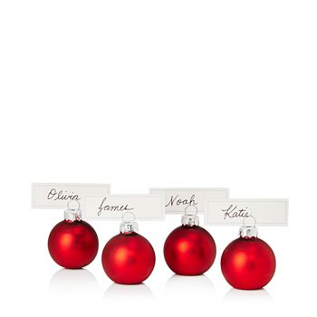 Bloomingdale S Gl Red Ball Place Card Holders Set Of 4 100 Exclusive