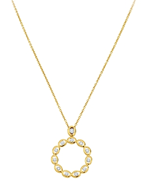 Gumuchian 18K Yellow Gold Diamond Oasis Circle Pendant Necklace, 18