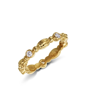 Gumuchian 18K Yellow Gold Five Diamond Stackable Nutmeg Band