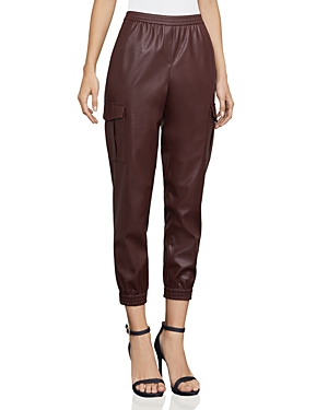 Bcbgmaxazria Cian Faux-Leather Cargo Pants