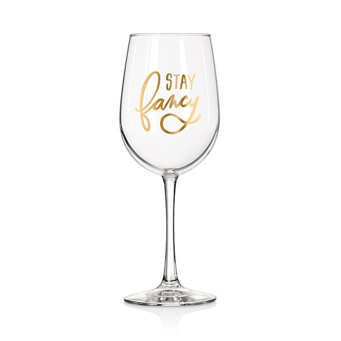 Easy Tiger - Stay Fancy Wine Glass