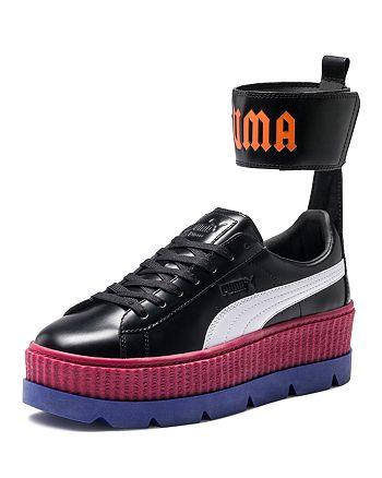 825ad880d128 FENTY Puma x Rihanna Women s Leather Ankle Strap Platform Sneakers ...