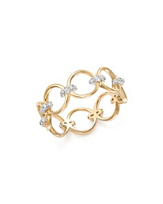 MATEO - 14K Yellow Gold Diamond Connected Circle Ring