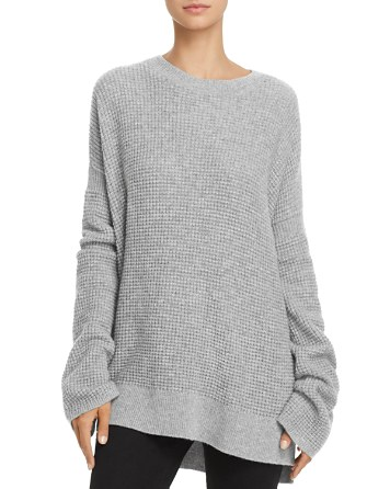 $Theory Bicep Bell-Sleeve Thermal Cashmere Sweater - Bloomingdale's