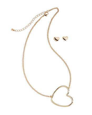 Capelli - Girls' Heart Necklace & Earrings Set