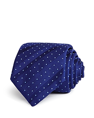 Boss Textured Stripe with Dot Classic Tie