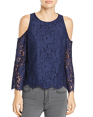 Joie Abay Cold-Shoulder Lace Top