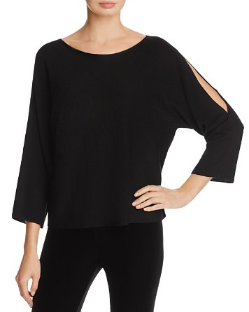 $Eileen Fisher Petites Slit-Sleeve Top - Bloomingdale's