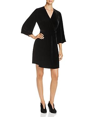 Eileen Fisher Velvet Kimono Wrap Dress